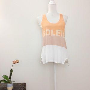 Madewell Orange Soleil Colorblock Tank Top XS
